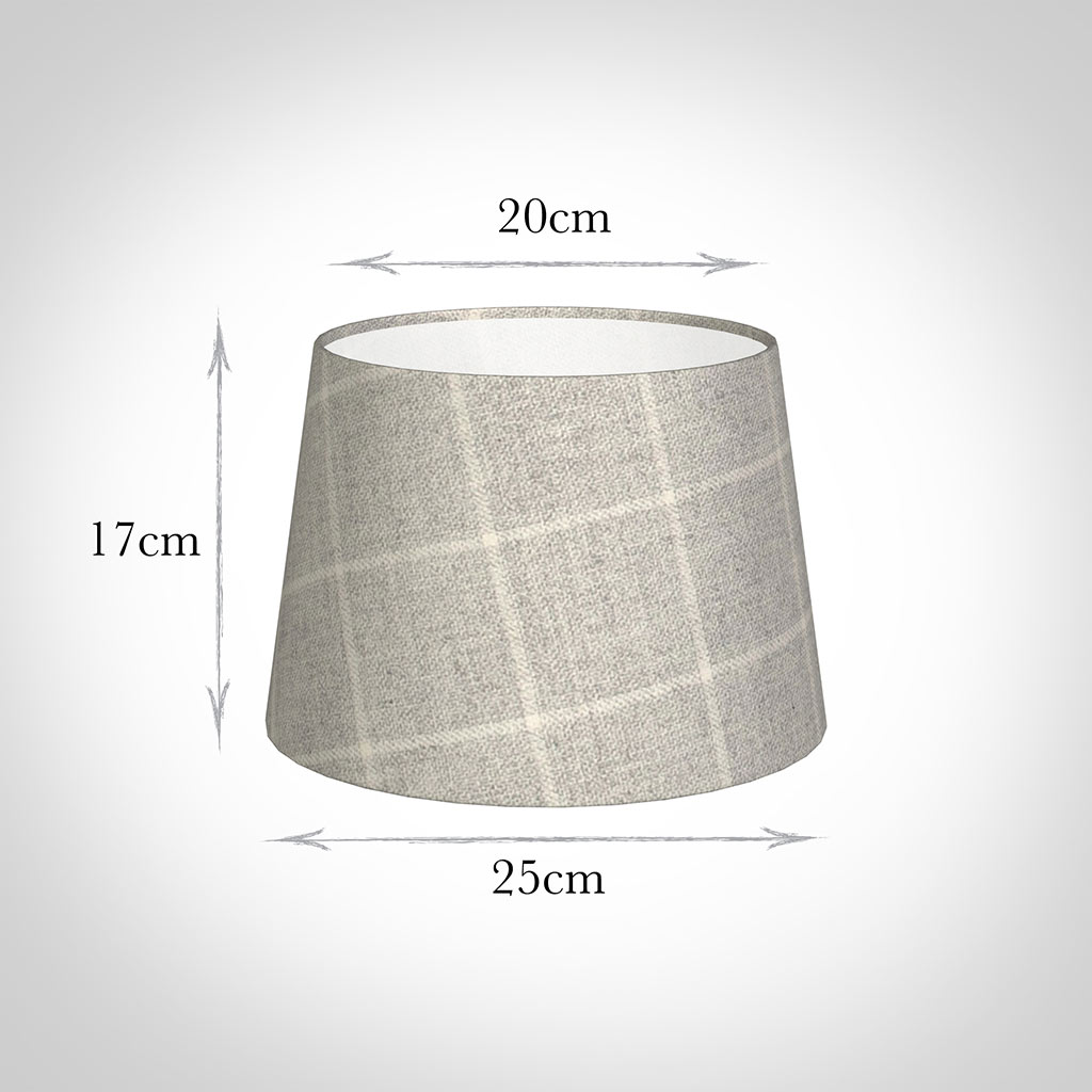 25cm Medium French Drum in Stirling Check Lovat Wool