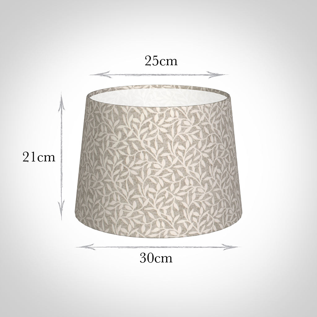 30cm Medium French Drum Shade in Grey Marl Arbour