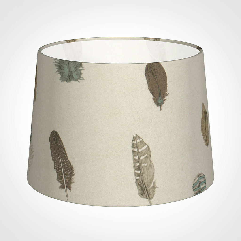 35cm Medium French Drum Shade in Stone Featherdown