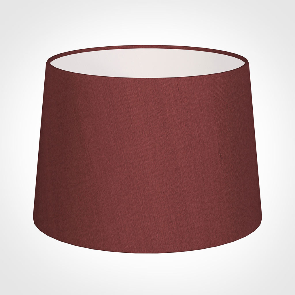 35cm Medium French Drum Shade in Antique Red Silk