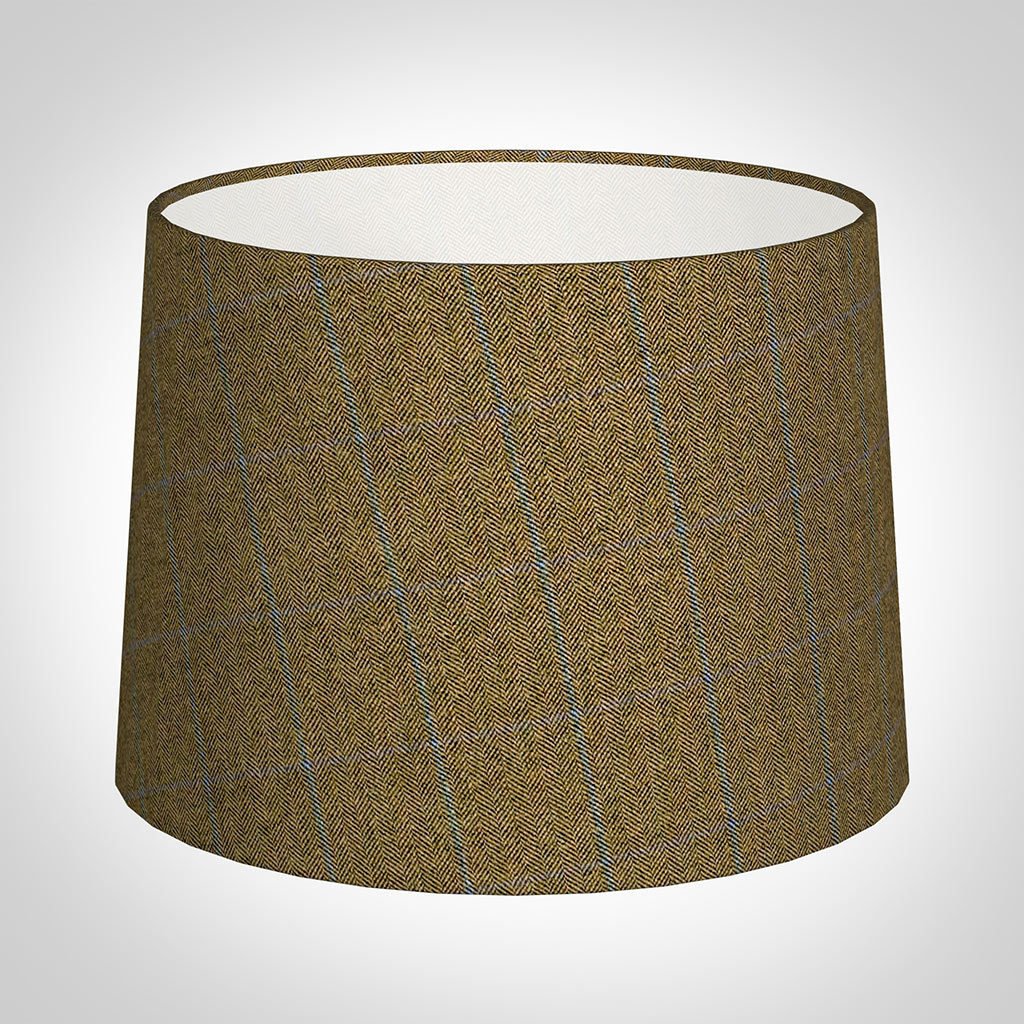 40cm Medium French Drum in Angus Check Lovat Wool