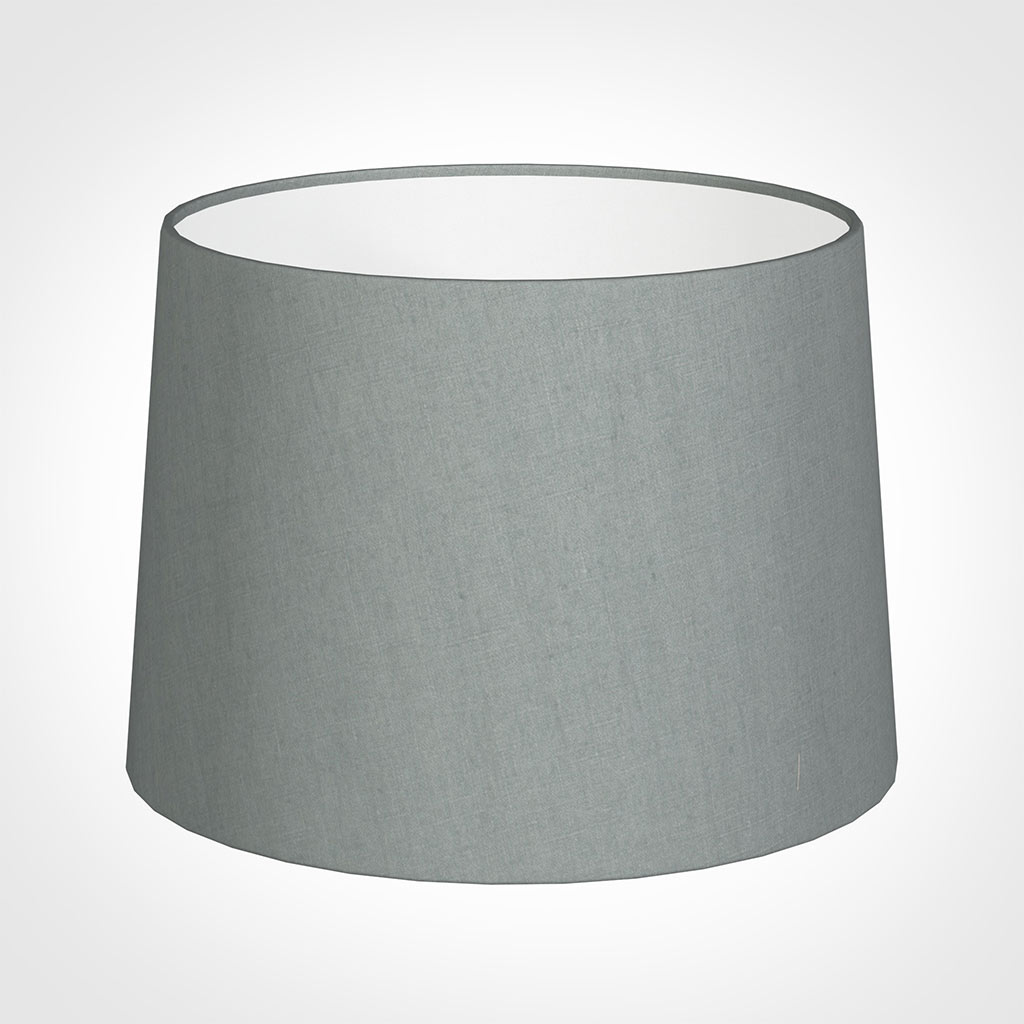 40cm Medium French Drum Shade in Blue Waterford Linen
