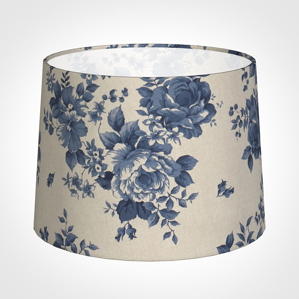 45cm Medium French Drum Shade in Blue Bloom