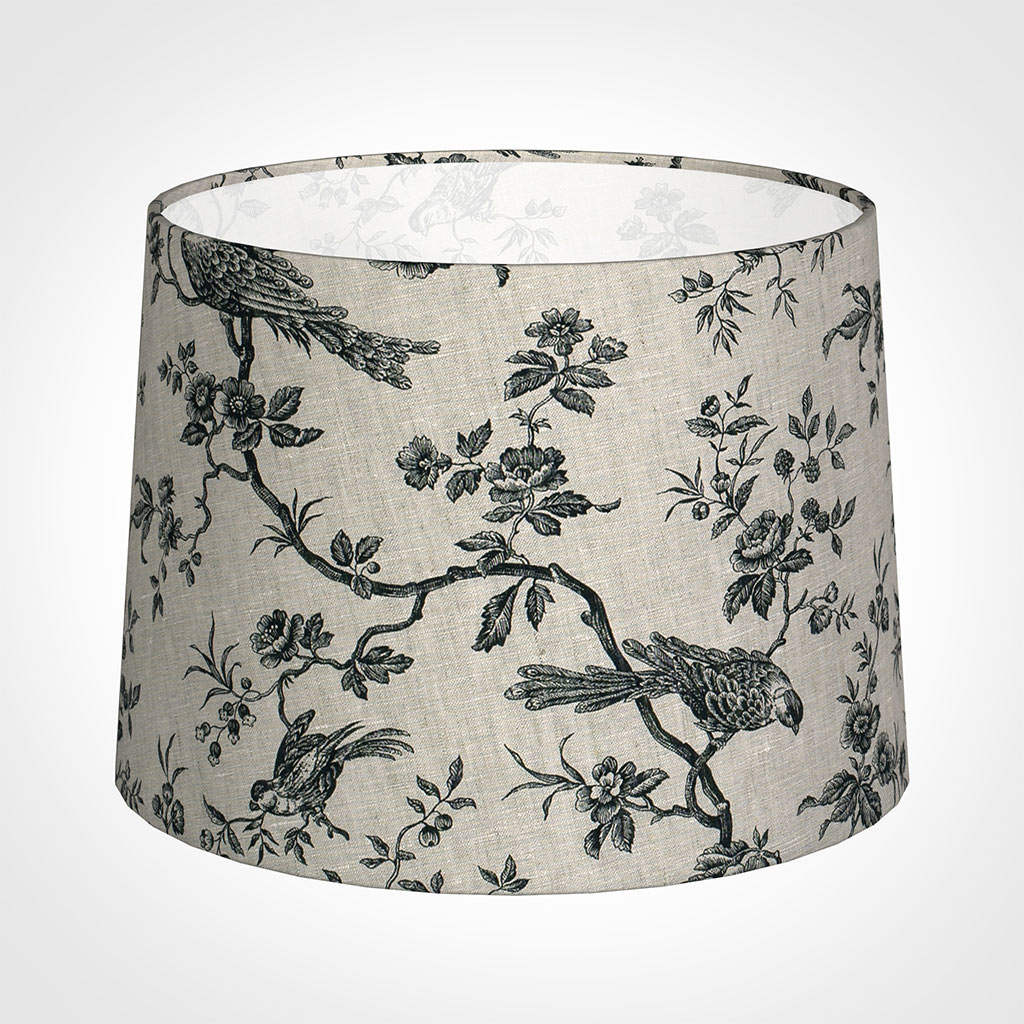 45cm Medium French Drum Shade in Black Isabelle
