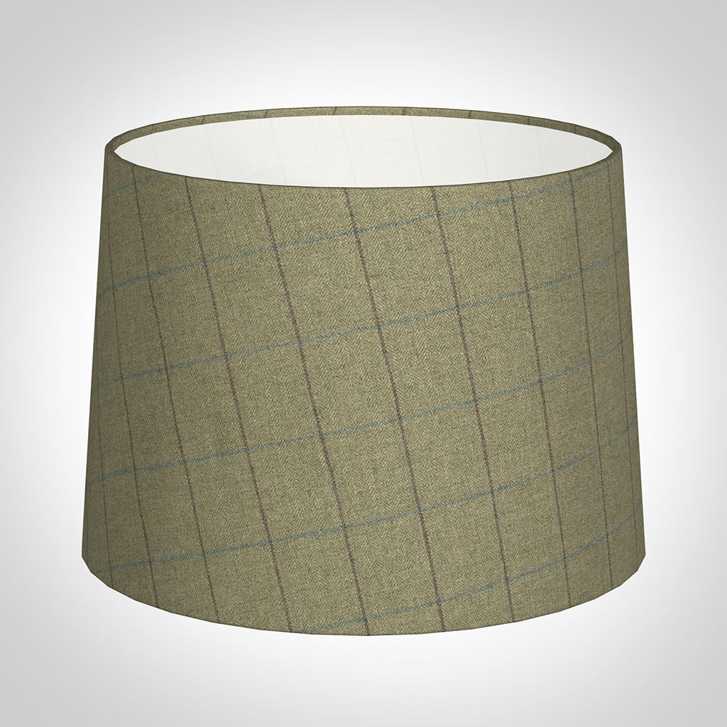 45cm Medium French Drum in Talisker Check Lovat Wool