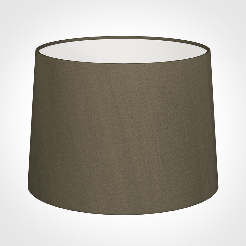 45cm Medium French Drum Shade in Bronze BrownSilk