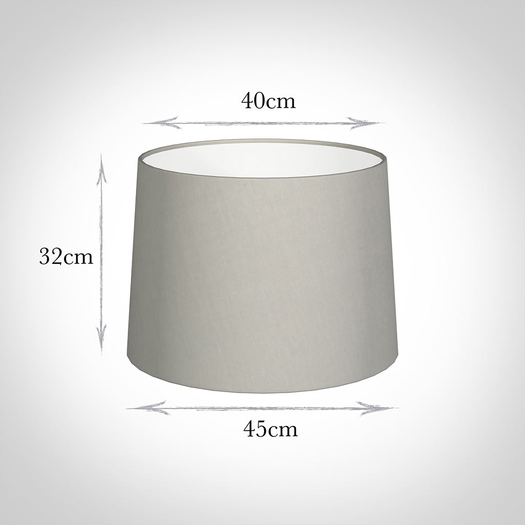 45cm Medium French Drum Shade in Soft Grey Waterford Linen