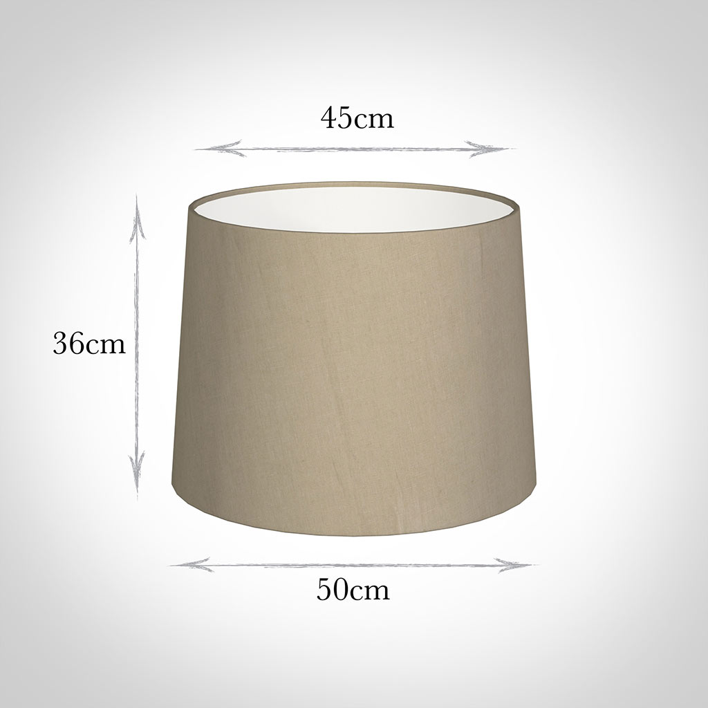50cm Medium French Drum Shade in Limestone Waterford Linen