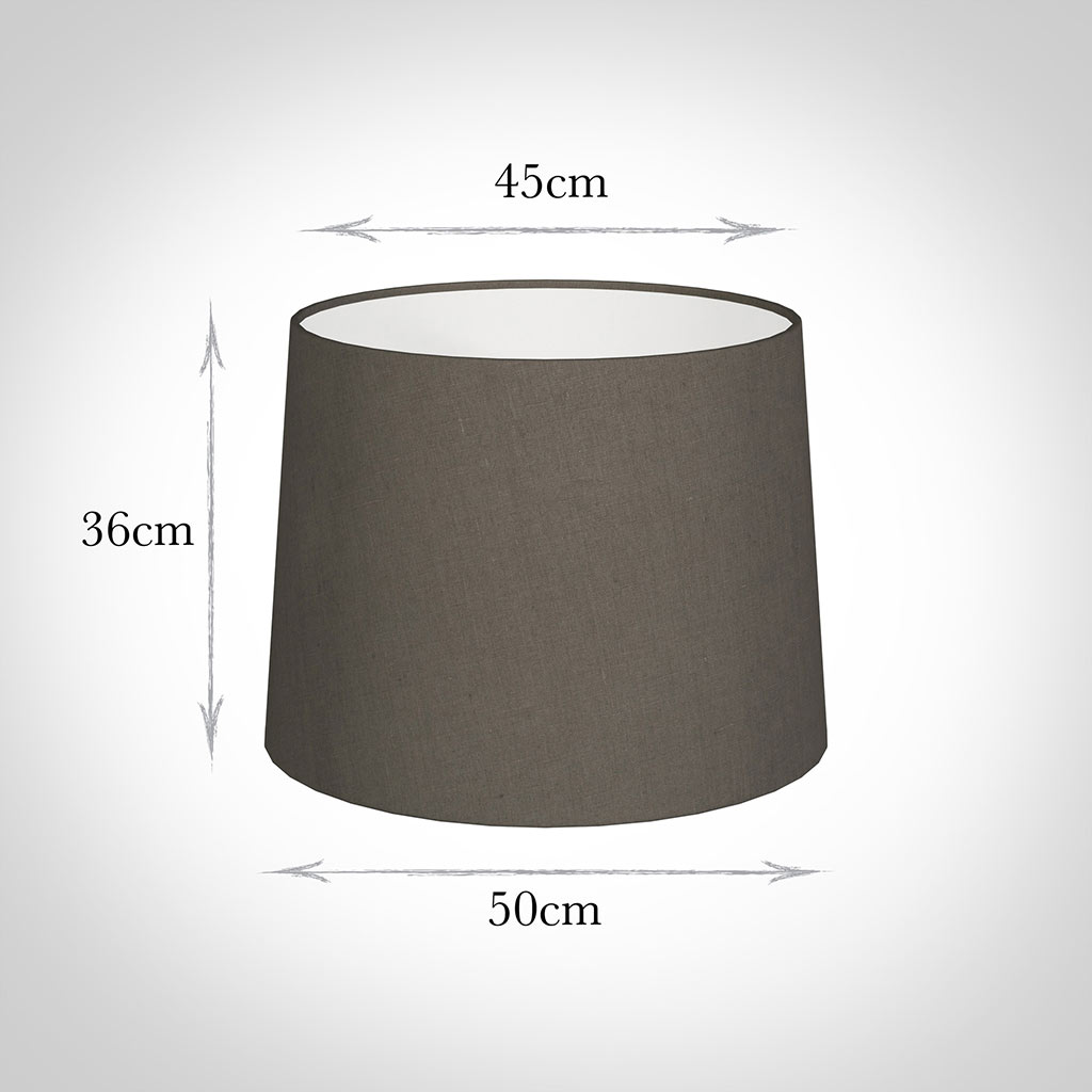 50cm Medium French Drum Shade in Mouse Waterford Linen