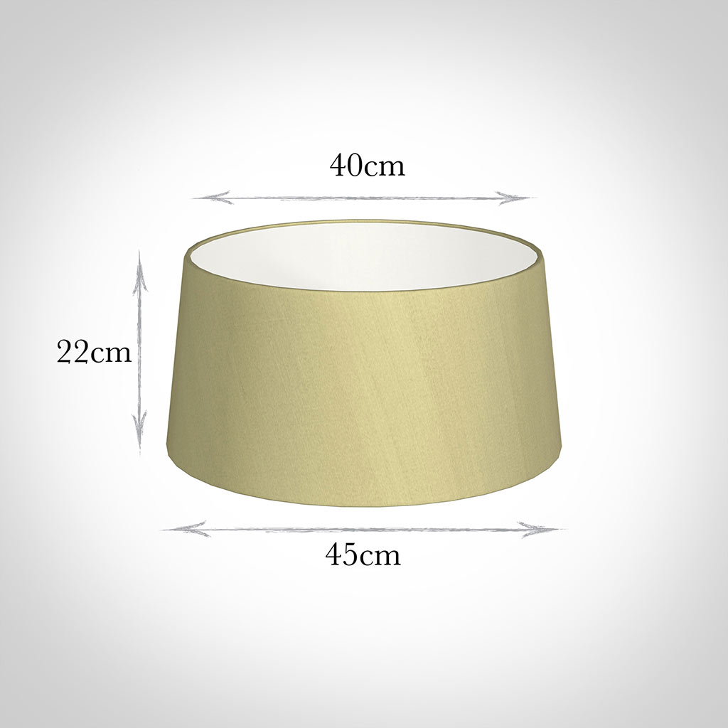 45cm Wide French Drum Shade in Wheat Faux Silk