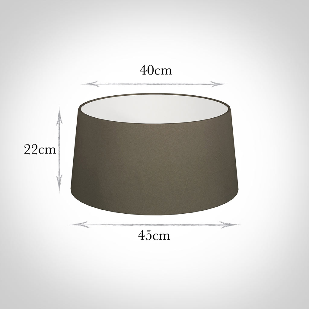 45cm Wide French Drum Shade in Bark Satin