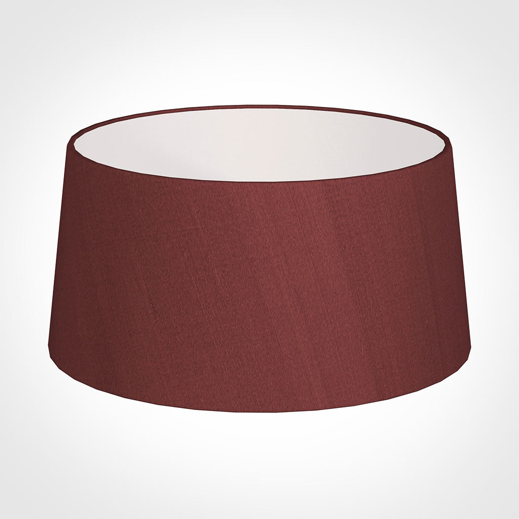 45cm Wide French Drum Shade in Antique Red Silk