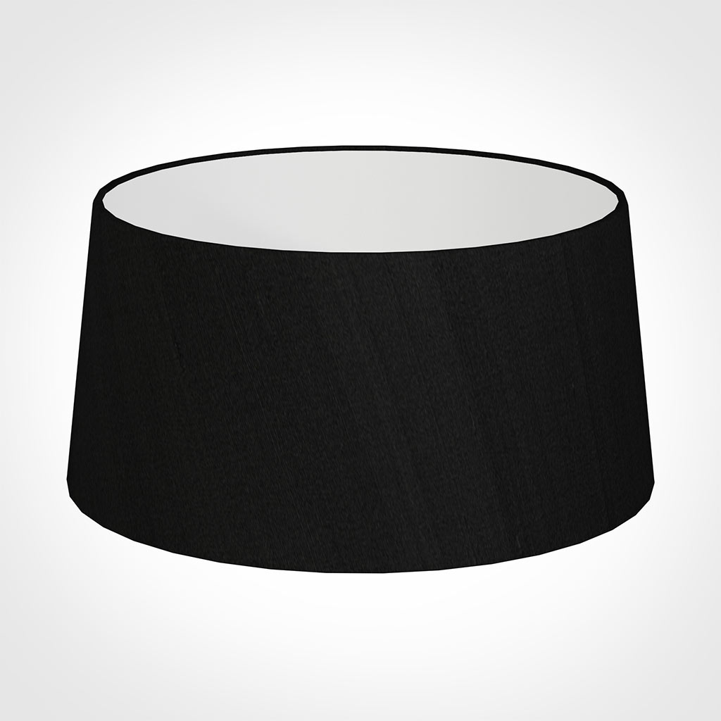 45cm Wide French Drum Shade in Black Silk