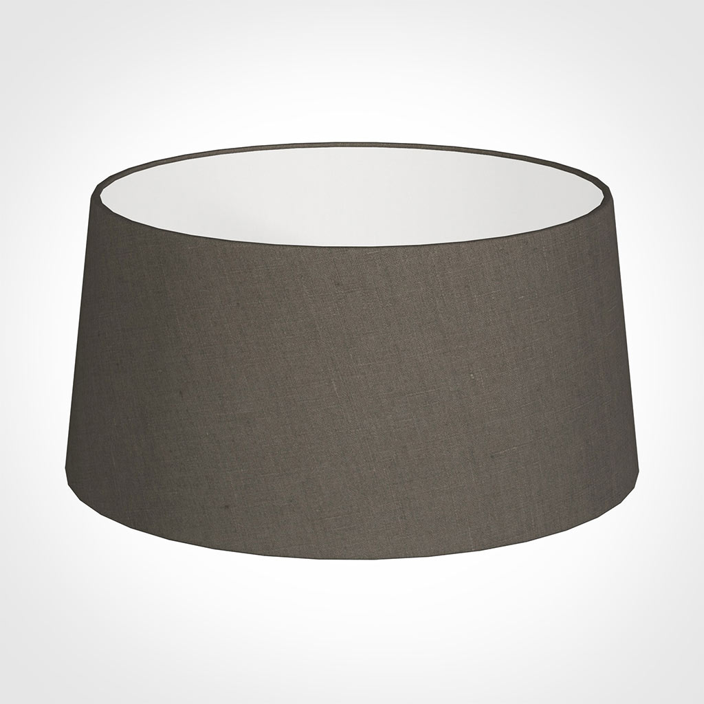 45cm Wide French Drum Shade in Mouse Waterford Linen
