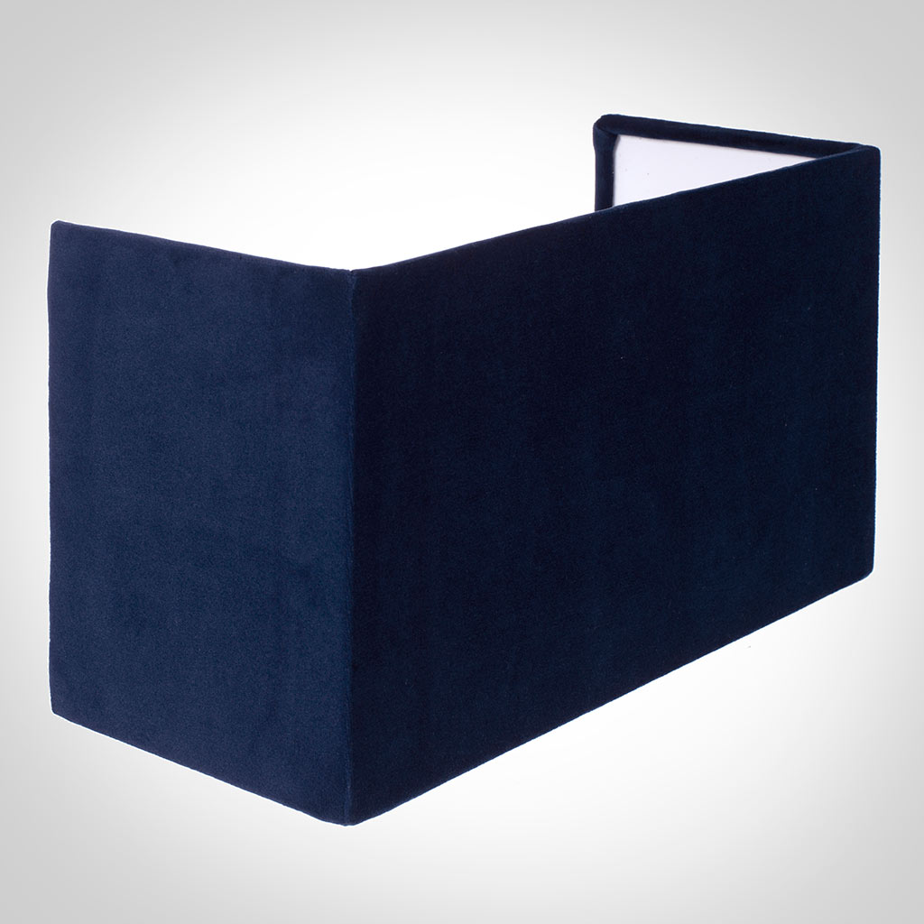31cm Hanbury Half Shade in Navy Blue Hunstanton Velvet