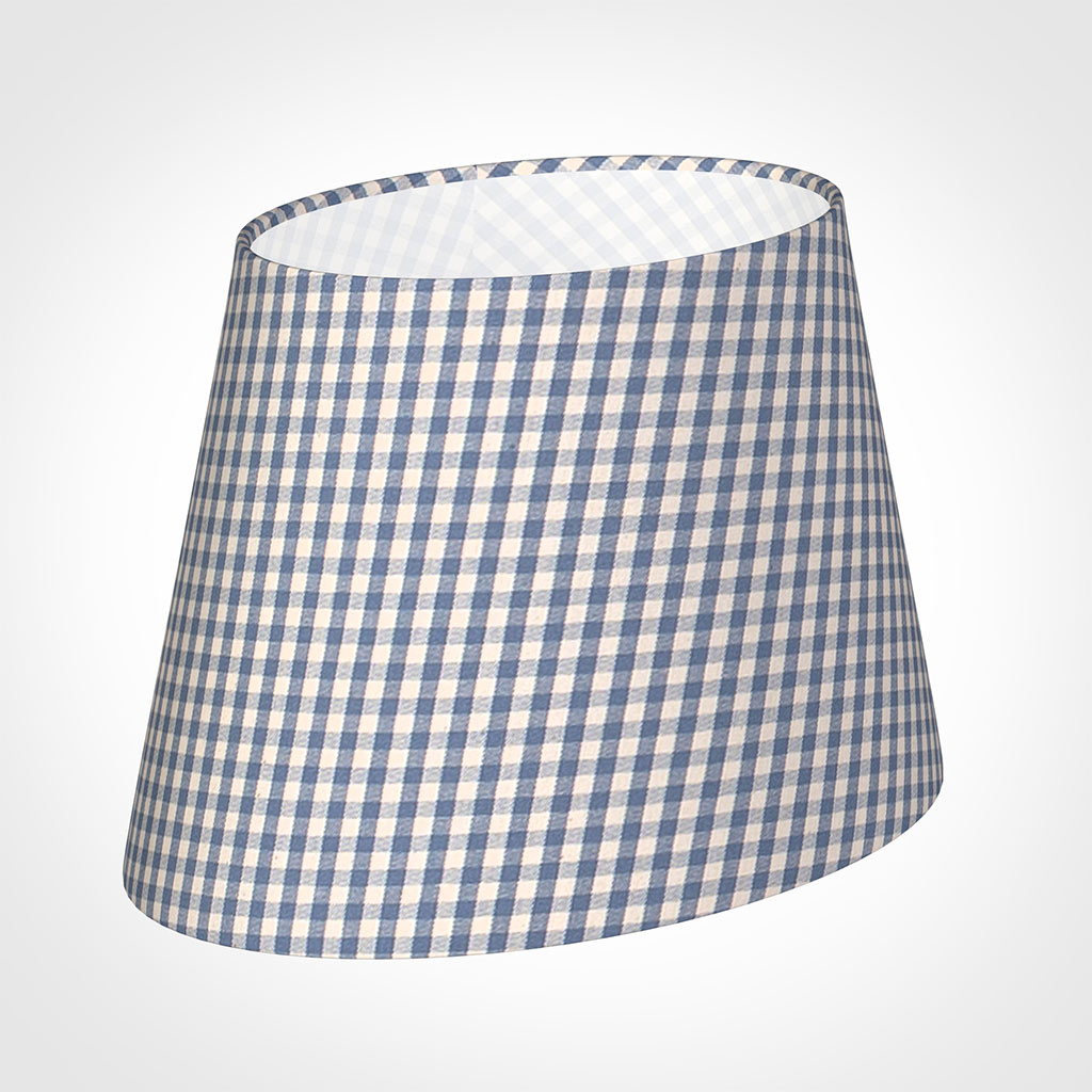 25cm Sloped Oval Shade in Blue Longford Gingham