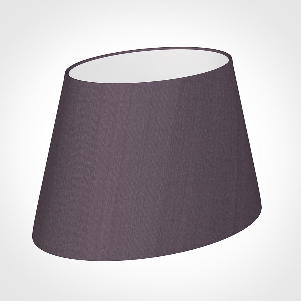 30cm Sloped Oval Shade in Heather Silk