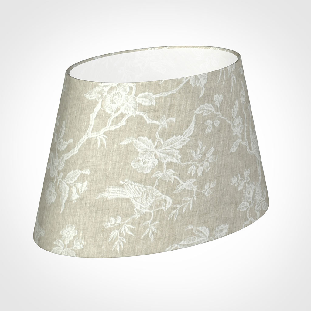 35cm Sloped Oval Shade in White Isabelle