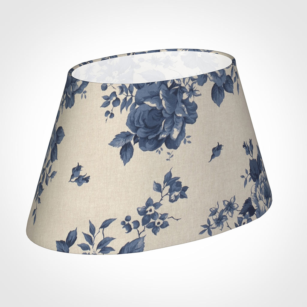 45cm Sloped Oval Shade in Blue Bloom