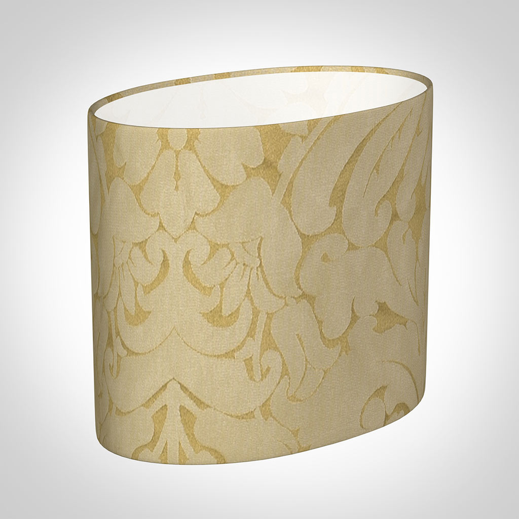 20cm Straight Oval Shade in Gold Chatsworth