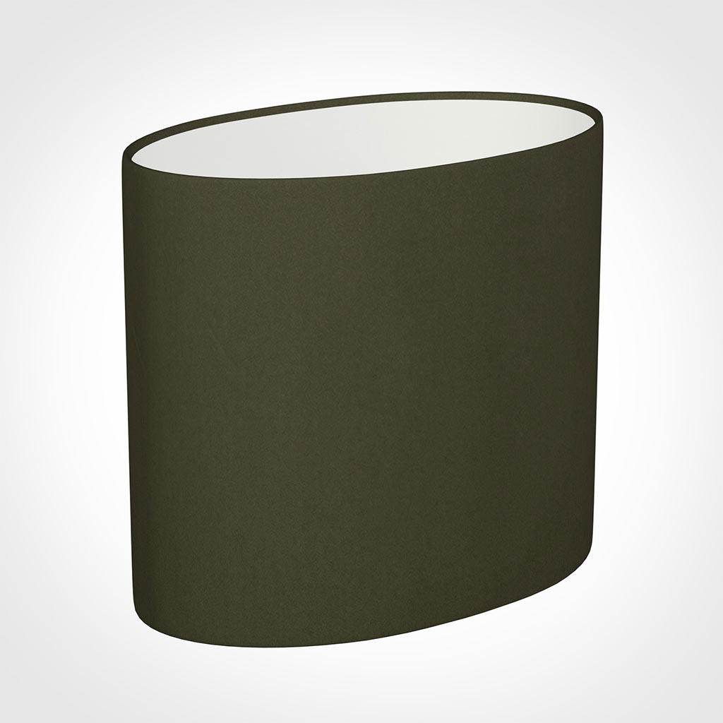 20cm Straight Oval Shade in Laurel Satin