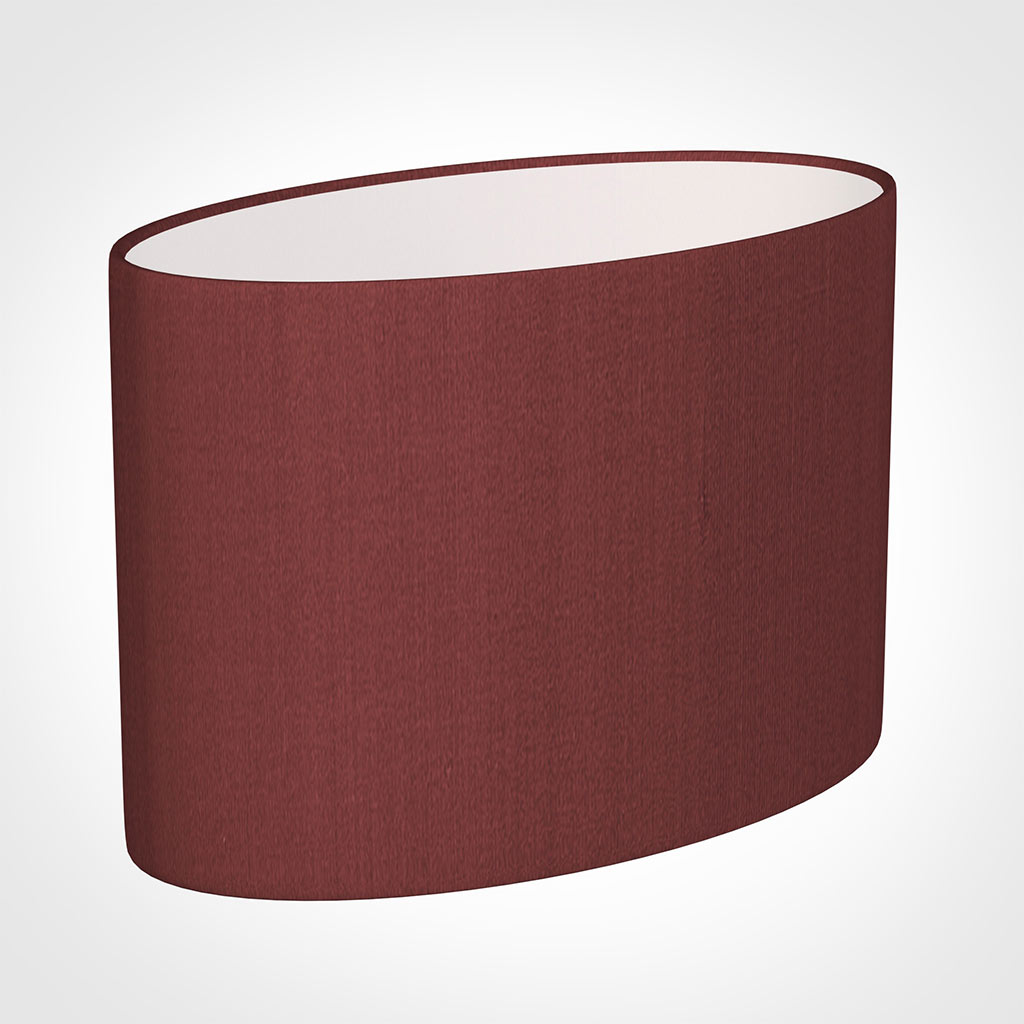 35cm Straight Oval Shade in Antique Red Silk