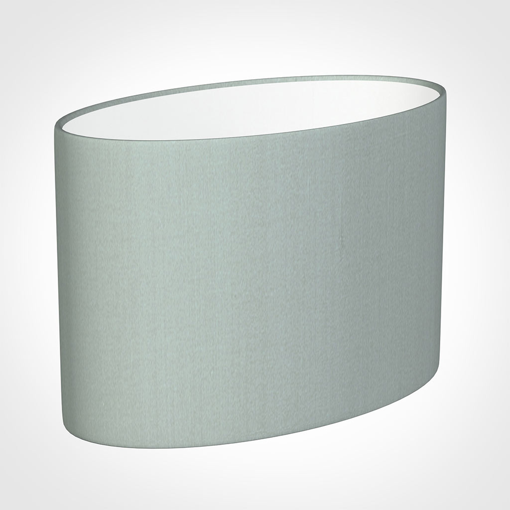 35cm Straight Oval Shade in French Grey Silk