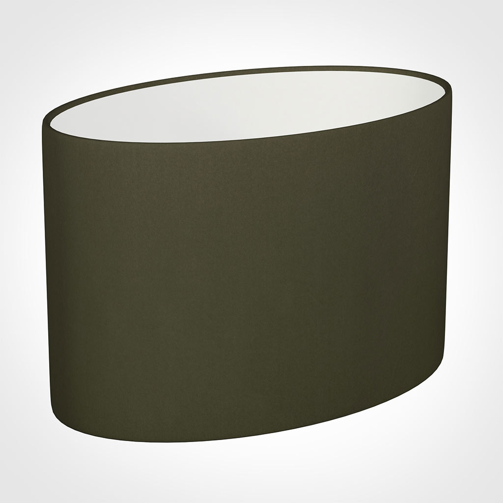 40cm Straight Oval Shade in Laurel Satin