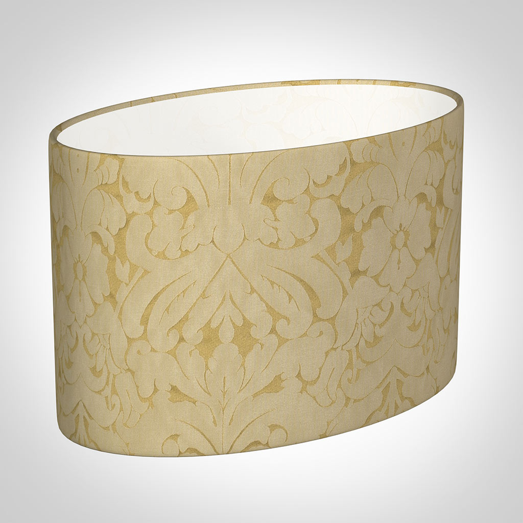 45cm Straight Oval Shade in Gold Chatsworth