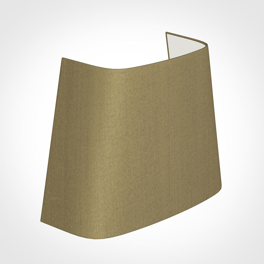 22cm Penrose Half Shade in Dull Gold Faux Silk