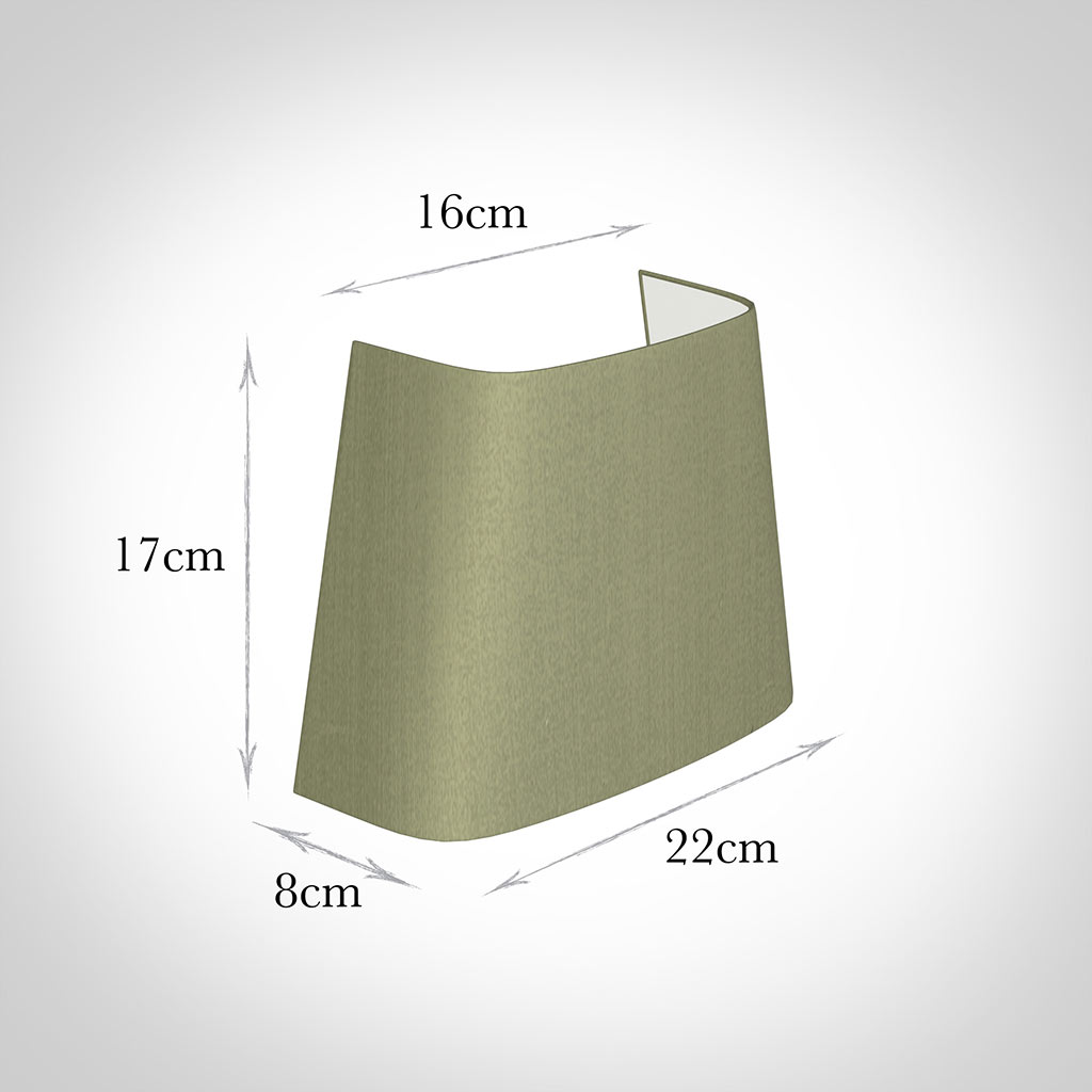 22cm Penrose Half Shade in Pale Green Faux Silk