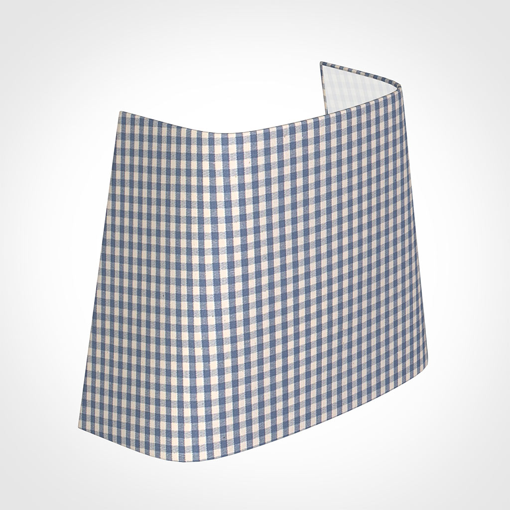 22cm Penrose Half Shade in Blue Longford Gingham