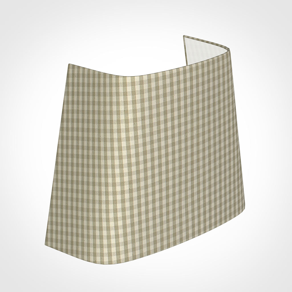 22cm Penrose Half Shade in Natural Longford Gingham