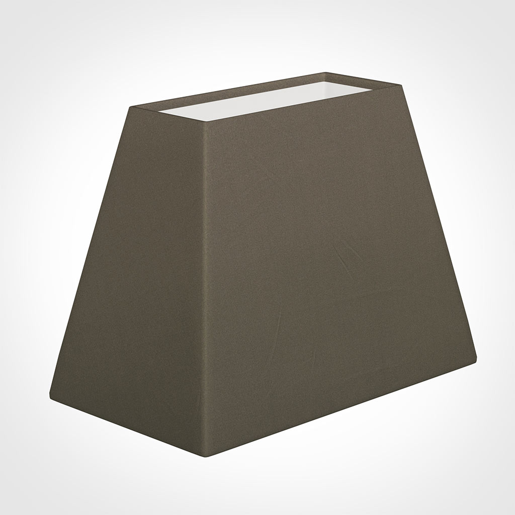 36cm Sloped Rectangle Shade in Bark Satin