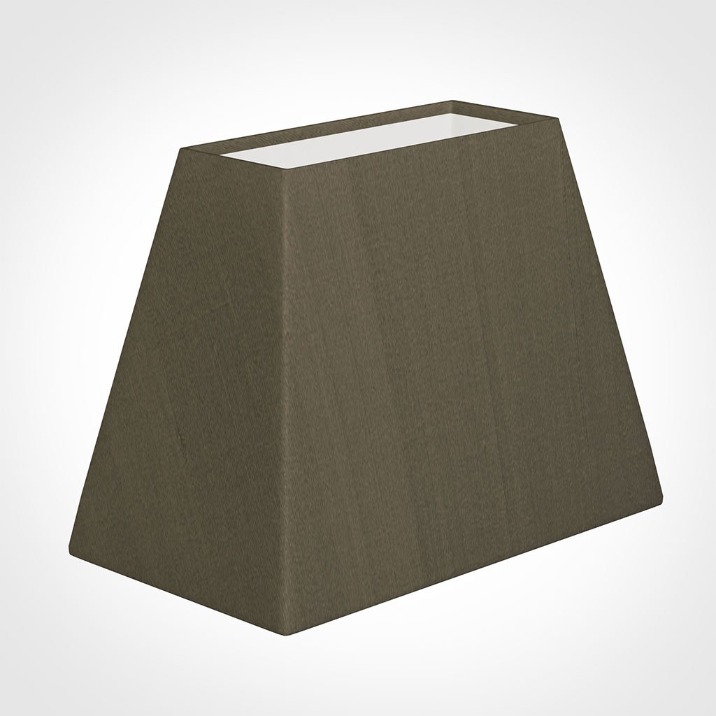 36cm Sloped Rectangle Shade in Bronze BrownSilk