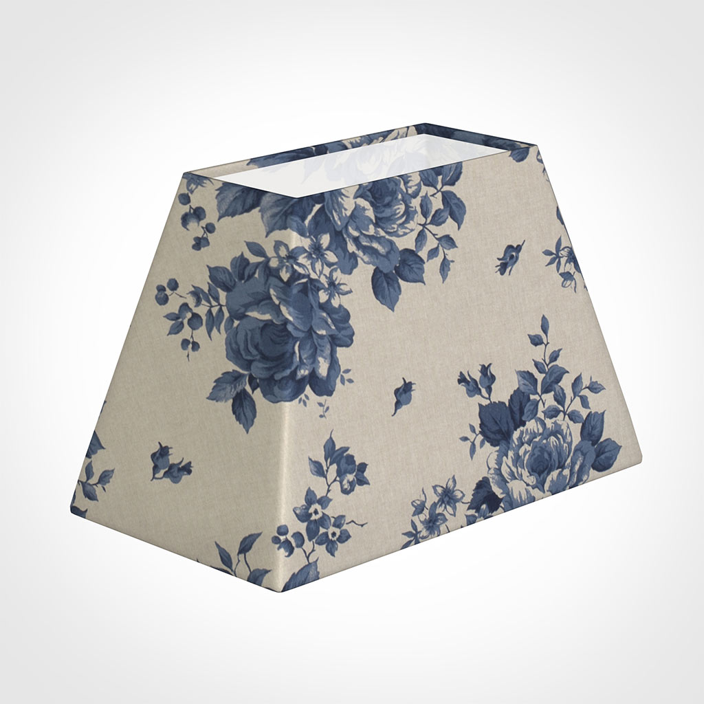 46cm Sloped Rectangle Shade in Blue Bloom