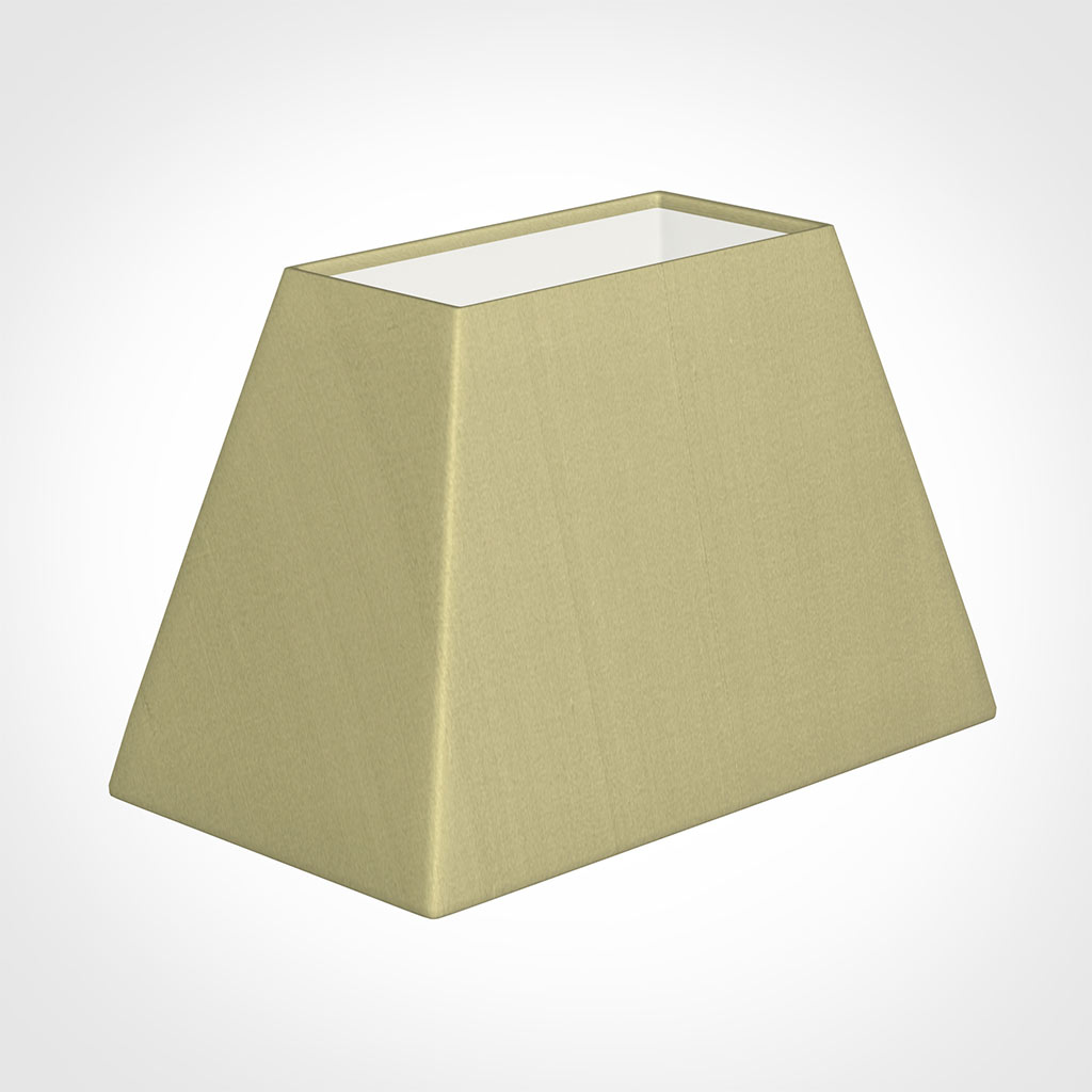 46cm Sloped Rectangle Shade in Wheat Faux Silk