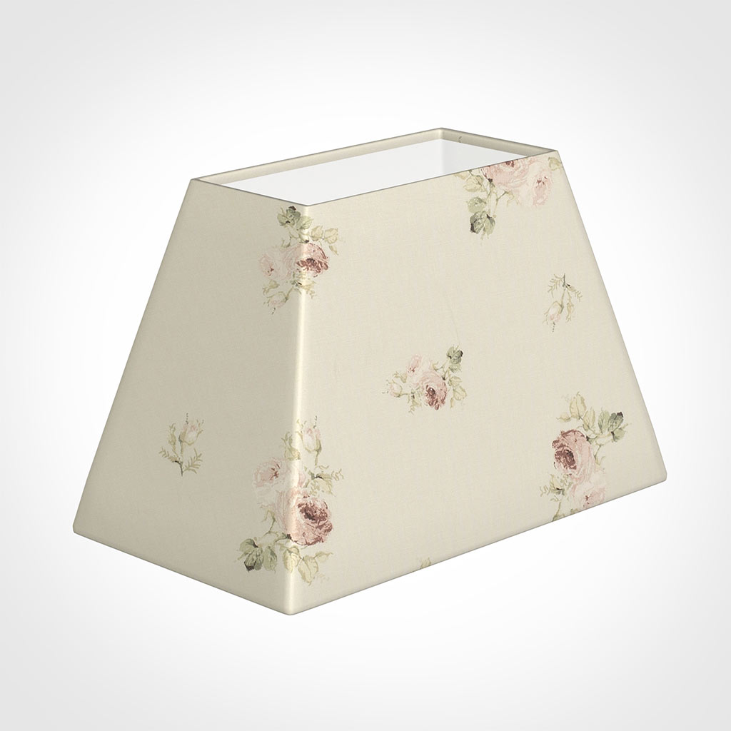 46cm Sloped Rectangle Shade in Antique Rosanna