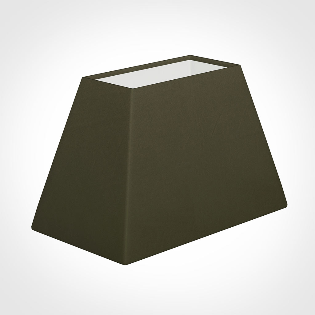 46cm Sloped Rectangle Shade in Laurel Satin