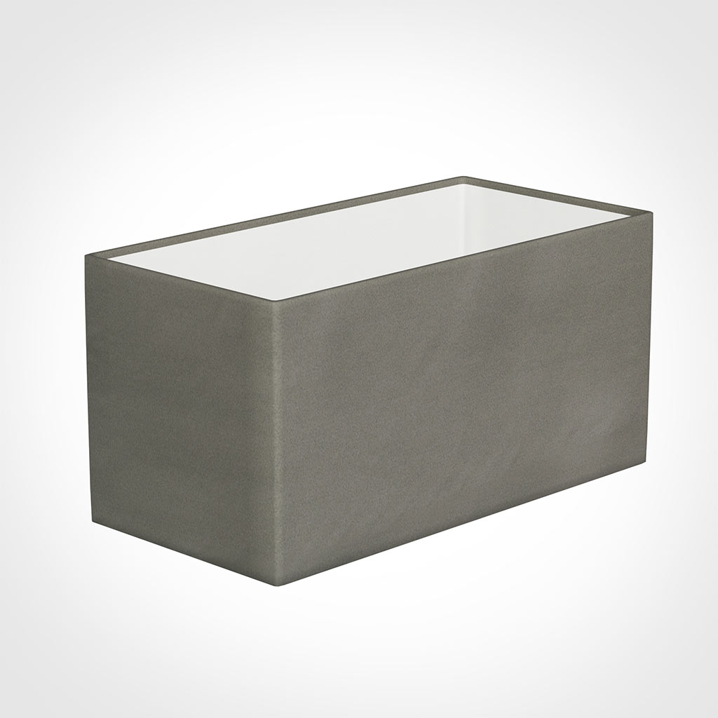 30cm Straight Rectangle Shade in Pewter Satin