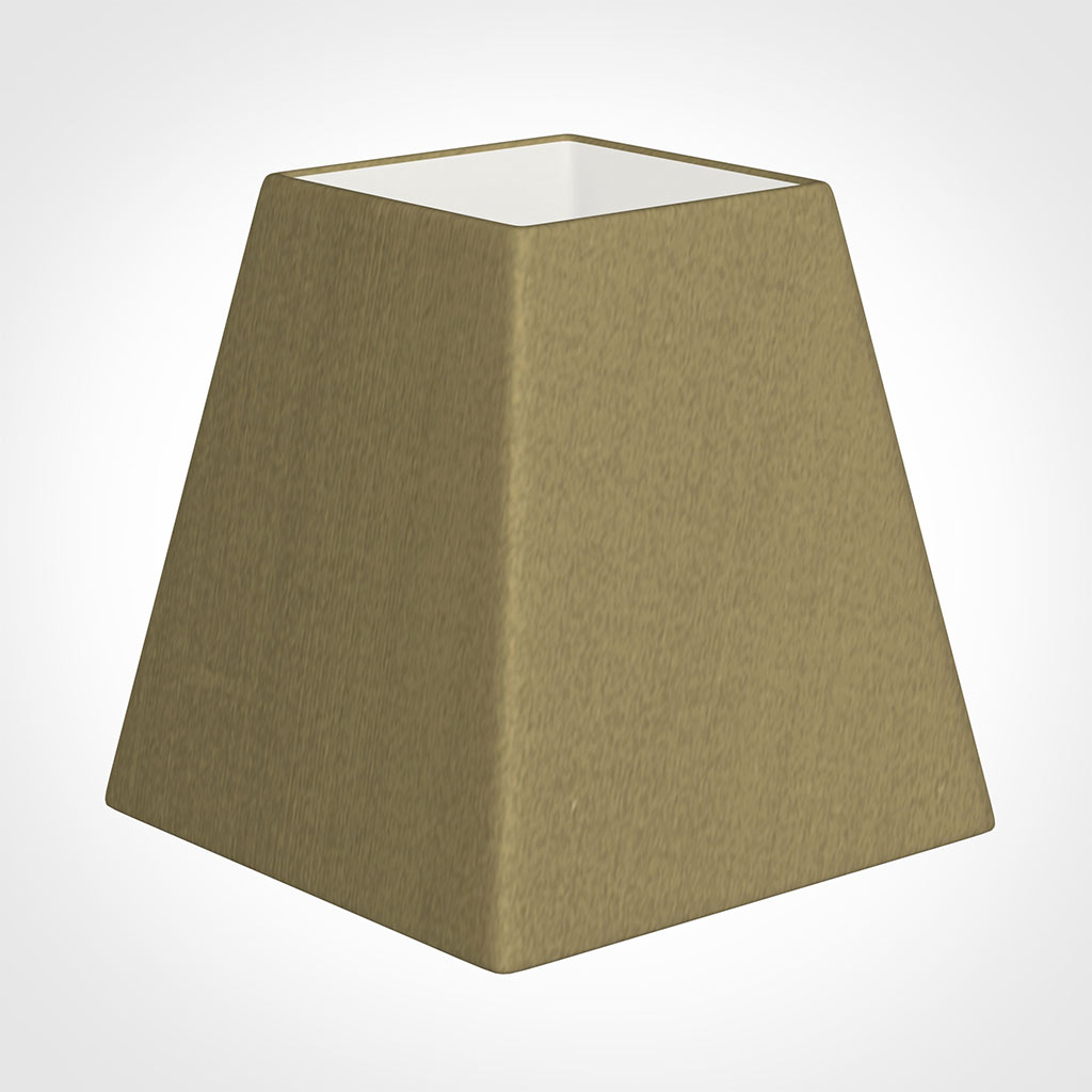 15cm Sloped Square Shade in Dull Gold Faux Silk