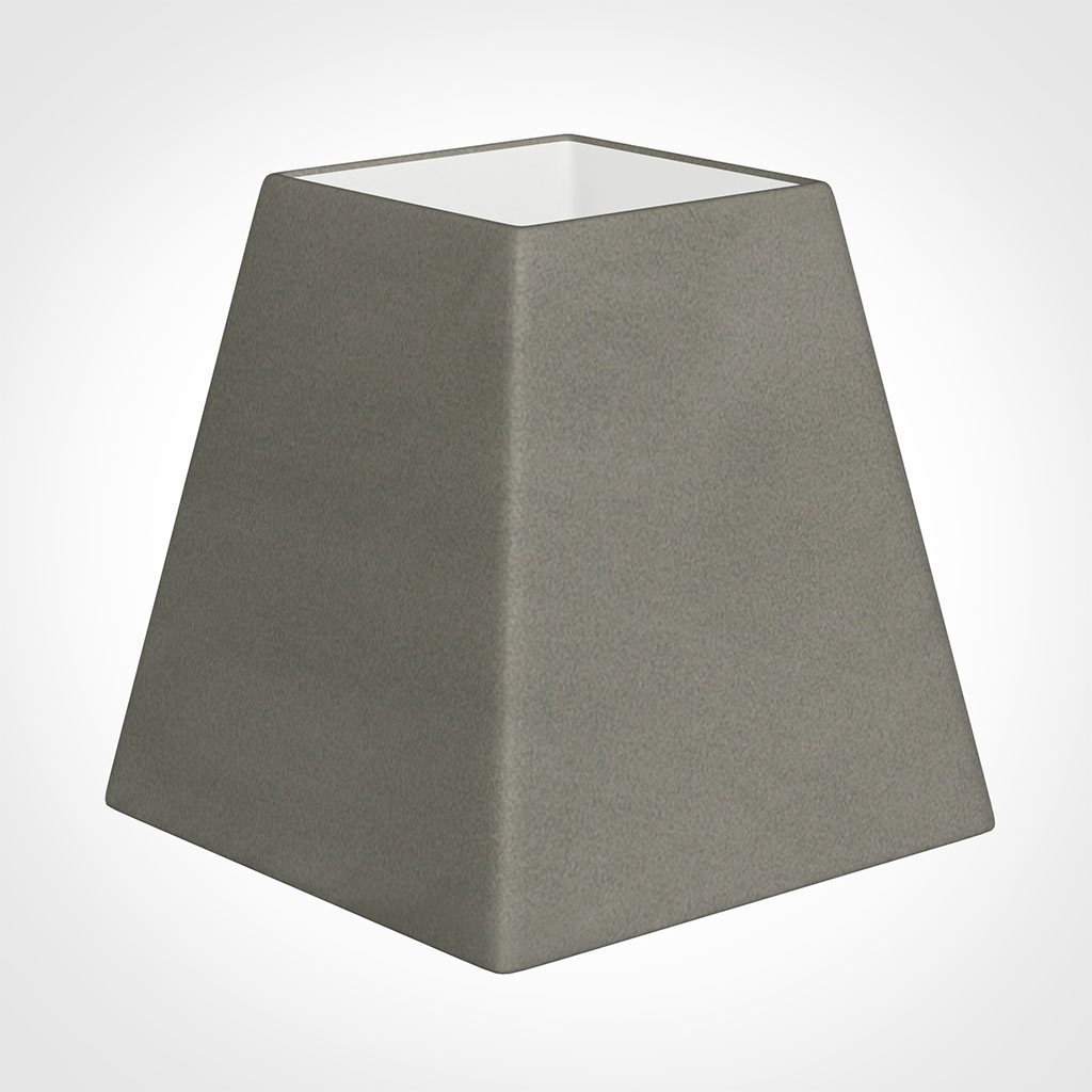 15cm Sloped Square Shade in Pewter Satin