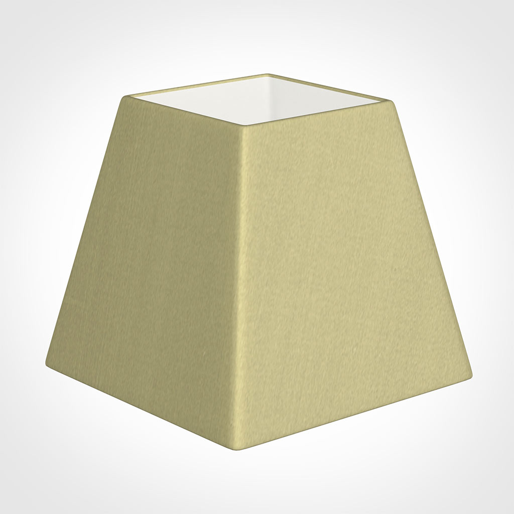 20cm Sloped Square Shade in Wheat Faux Silk