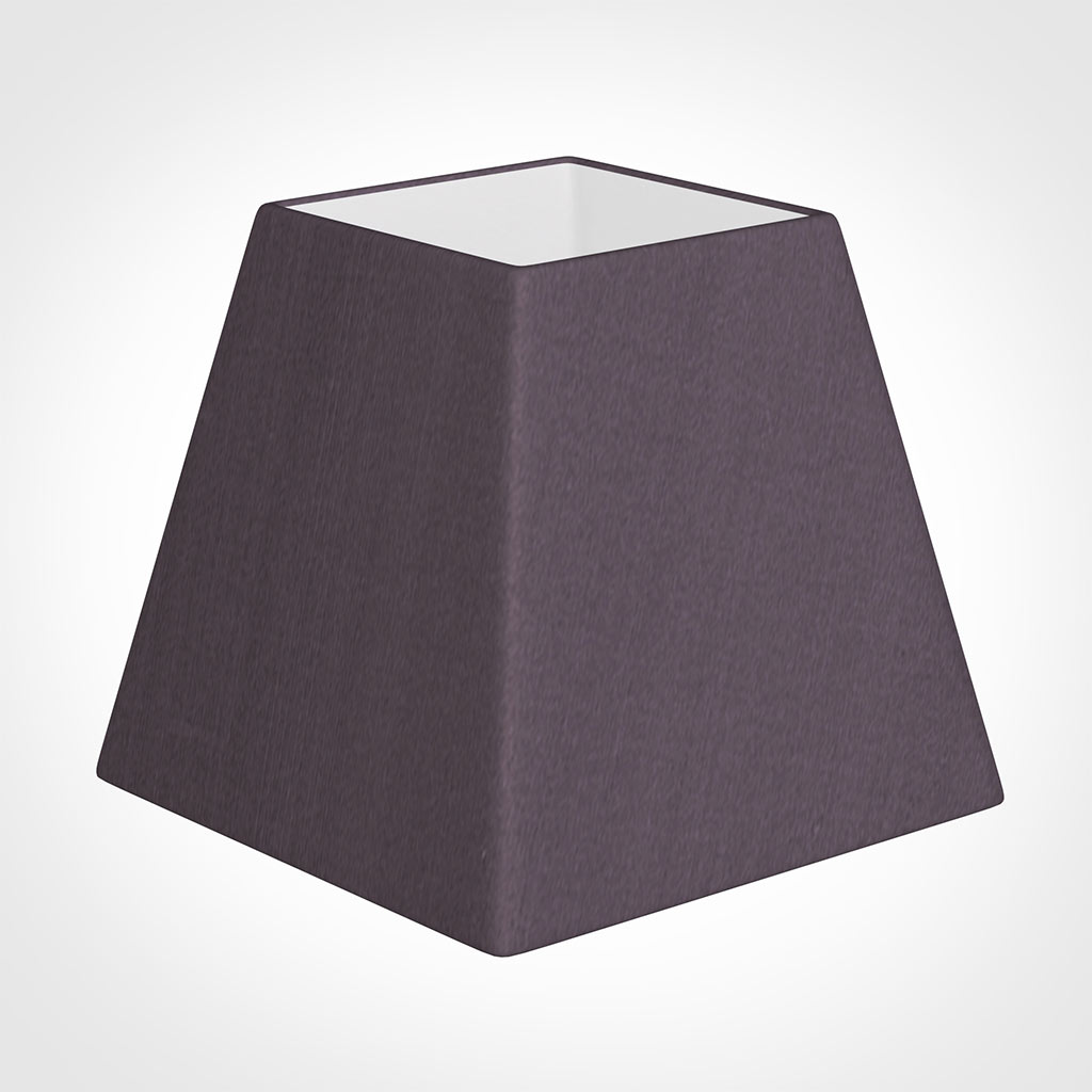 20cm Sloped Square Shade in Heather Silk