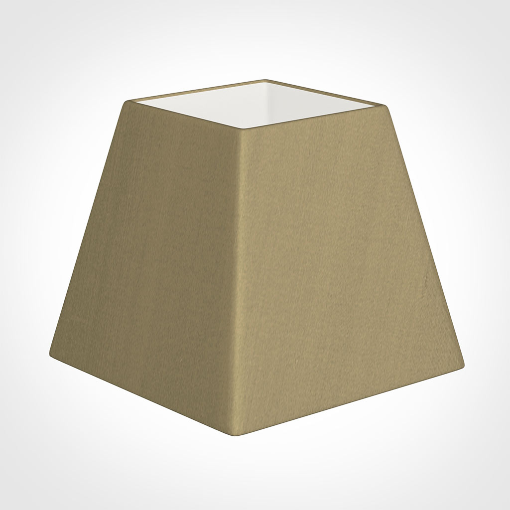 25cm Sloped Square Shade in Oyster Faux Silk