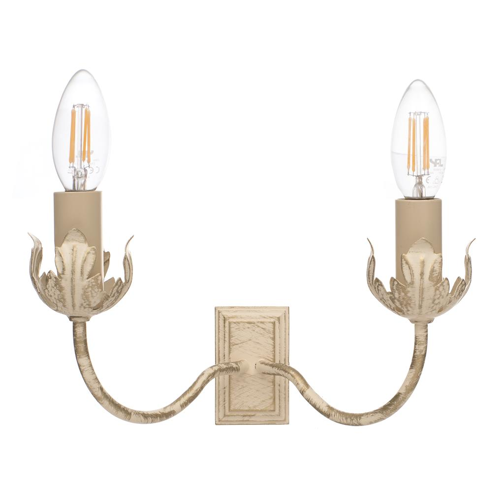 Double Tulip Wall Light in Old Ivory