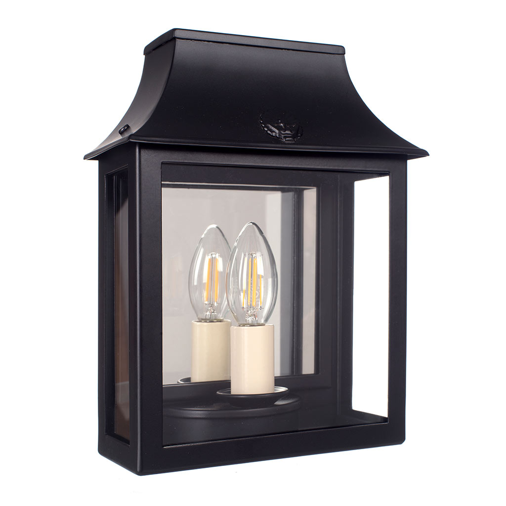 Peacock Lantern in Matt Black