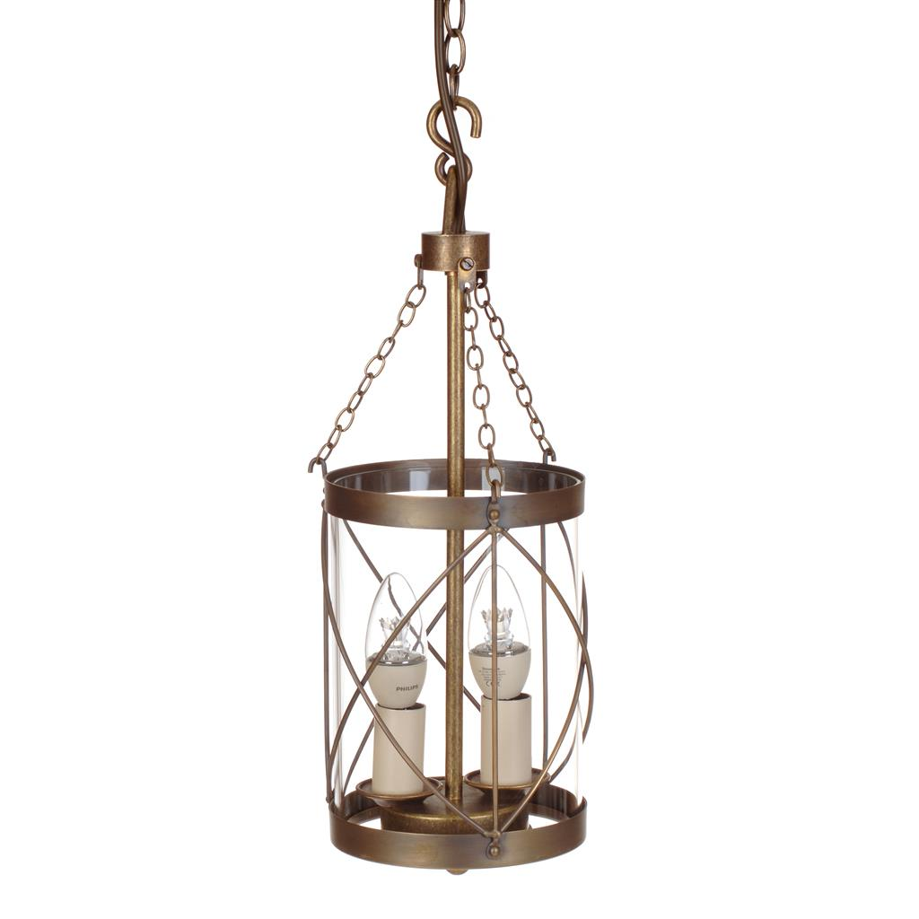 Belford Lantern in Antiqued Brass