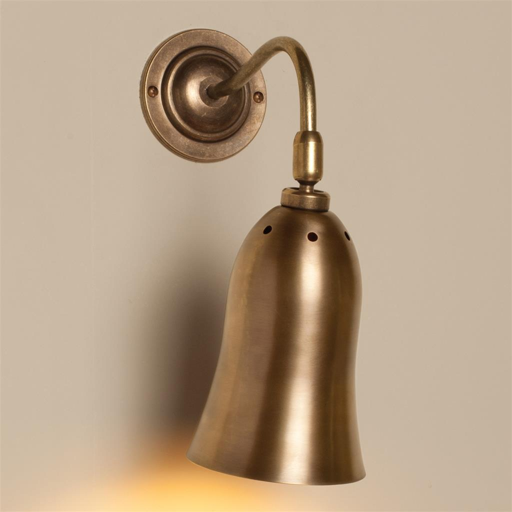 Eleigh Wall Light in Antiqued Brass