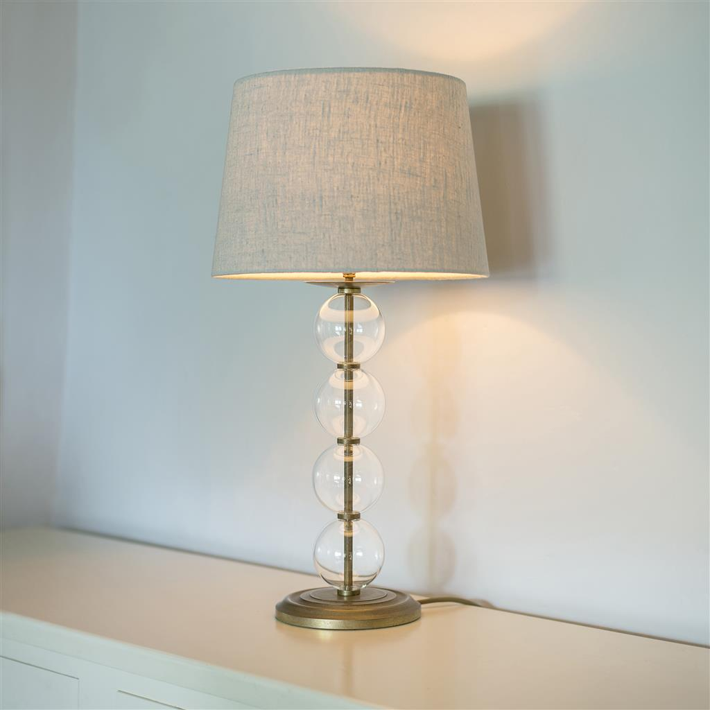 Orwell Lamp in Antiqued Brass